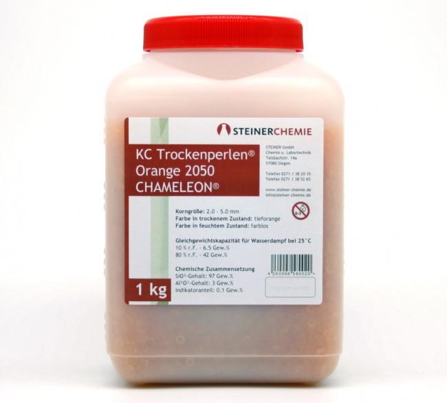 KC-Trockenperlen Orange Chameleon® Dose a 1 kg (regenerierbar)