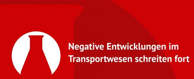 Negative Entwicklungen im Transportwesen schreiten fort