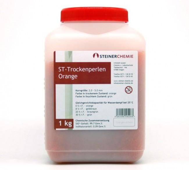 ST-Trockenperlen Orange Dose a 1kg (regenerierbar)