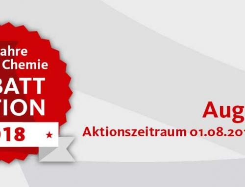 60 Jahre Steiner Chemie Rabattaktion: August 2018