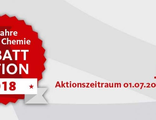 60 Jahre Steiner Chemie Rabattaktion: Juli 2018