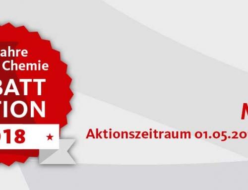 60 Jahre Steiner Chemie Rabattaktion: Mai 2018
