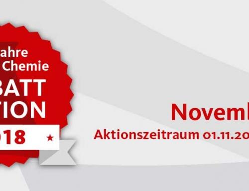 60 Jahre Steiner Chemie Rabattaktion: November 2018