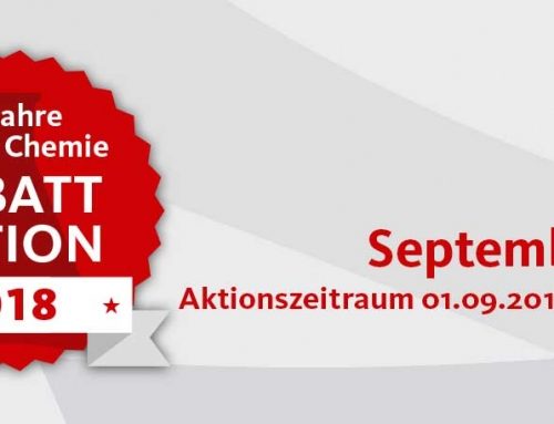 60 Jahre Steiner Chemie Rabattaktion: September 2018
