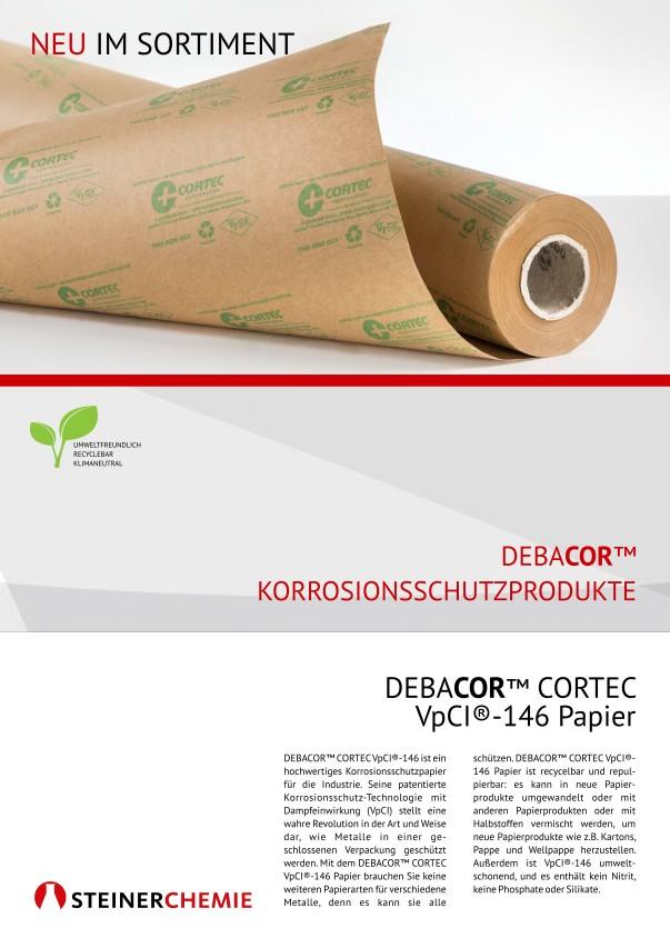 Flyer: DEBACOR CORTEC VpCI-146 Papier