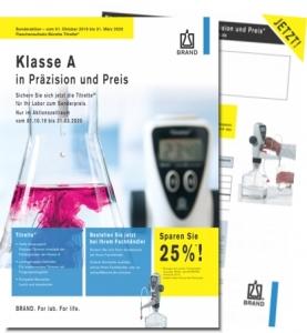 """Flyer """"Klasse A in Präzision und Preis"""""""