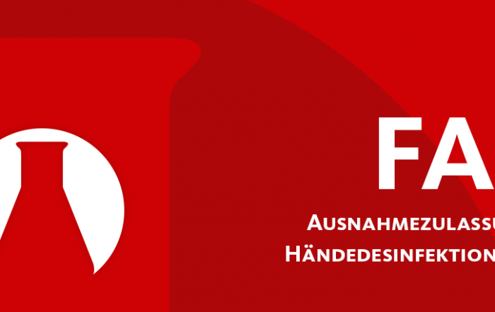 Ausnahmezulassung für Händedesinfektionsmittel