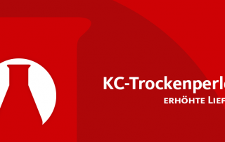 KC-Trockenperlen® – Erhöhte Lieferzeit