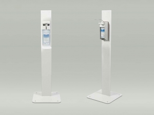 Desinfektionsmittelständer mit Armhebelspender oder Sensorspender