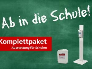 Komplettpaket (Desinfektionsmittel und Co.) zur Wiedereröffnung der Schulen