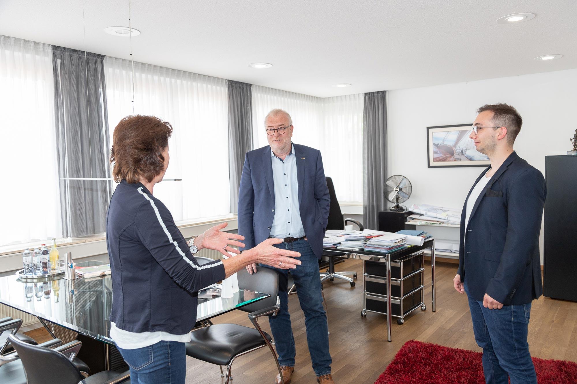 Regina Steiner, Walter Kiß und Kevin Schöttker (v. l. n. r.)