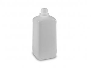 Enghals-Chemikalienflasche HDPE 1000 ml, quadratisch