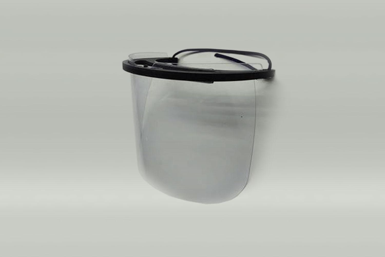 Gesichtsschutzschirm aus Policarbonatscheibe mit Kopfhalterung