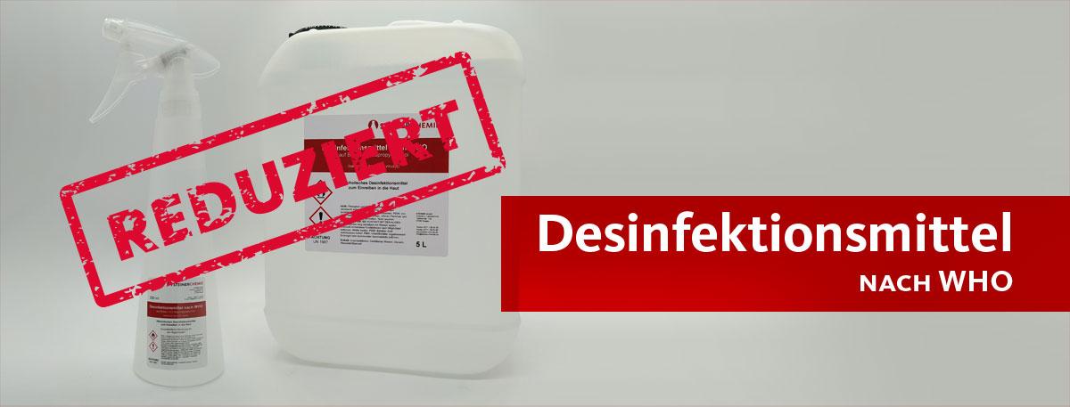 Desinfektionsmittel nach WHO reduziert