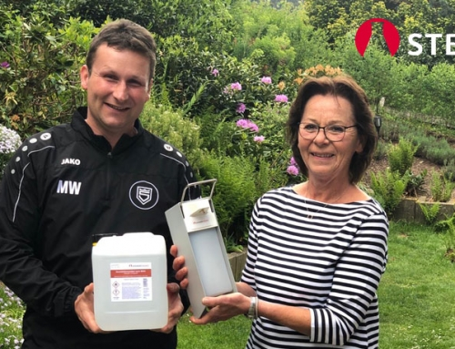 Steiner Chemie spendet Desinfektionsmittel und -spender an Sportfreunde Siegen