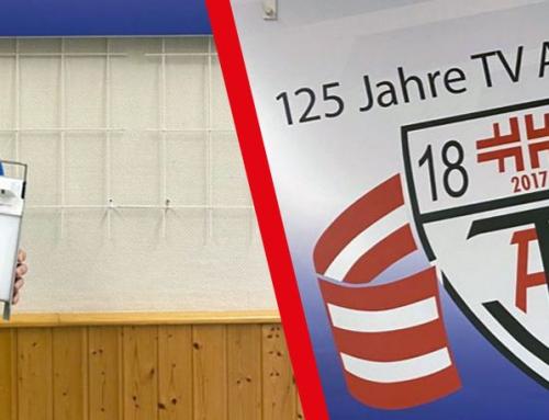 Steiner Chemie spendet Desinfektionsmittel und -spender an TV Allenbach