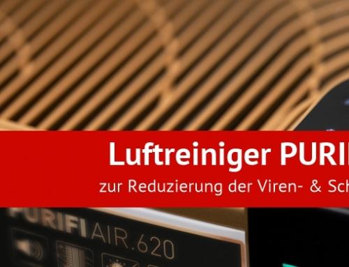 Luftreiniger PURIFIAIR.620 zur Reduzierung der Viren- & Schadstoffbelastung