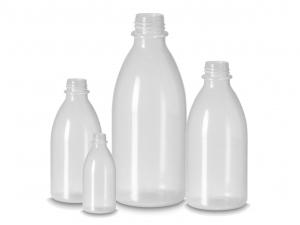 Enghalsflaschen aus PELD